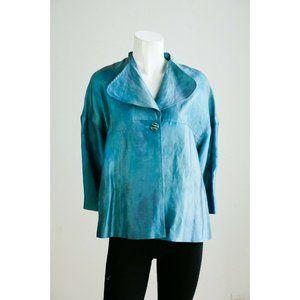 Vintage Louben Linen Blend Blue Blazer